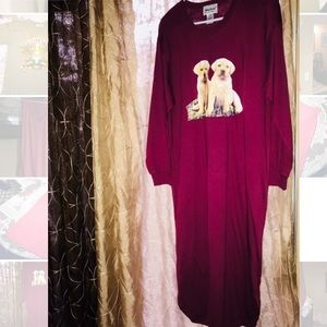Burgundy puppies Sleep shirt!